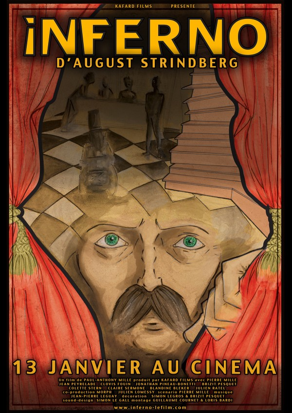 Affiche du film Inferno d'August Strindberg